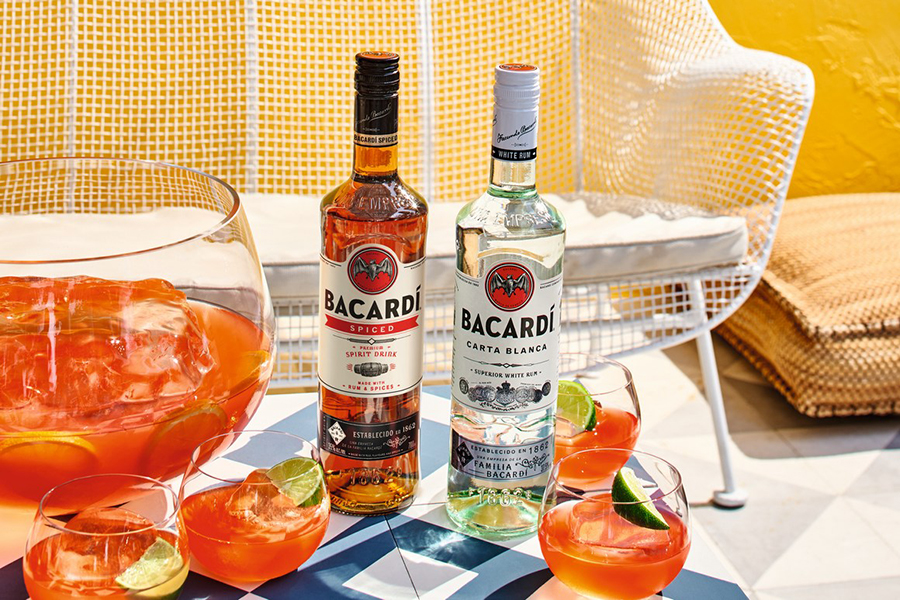 Bacardi Spiced Launches in Australia on the table