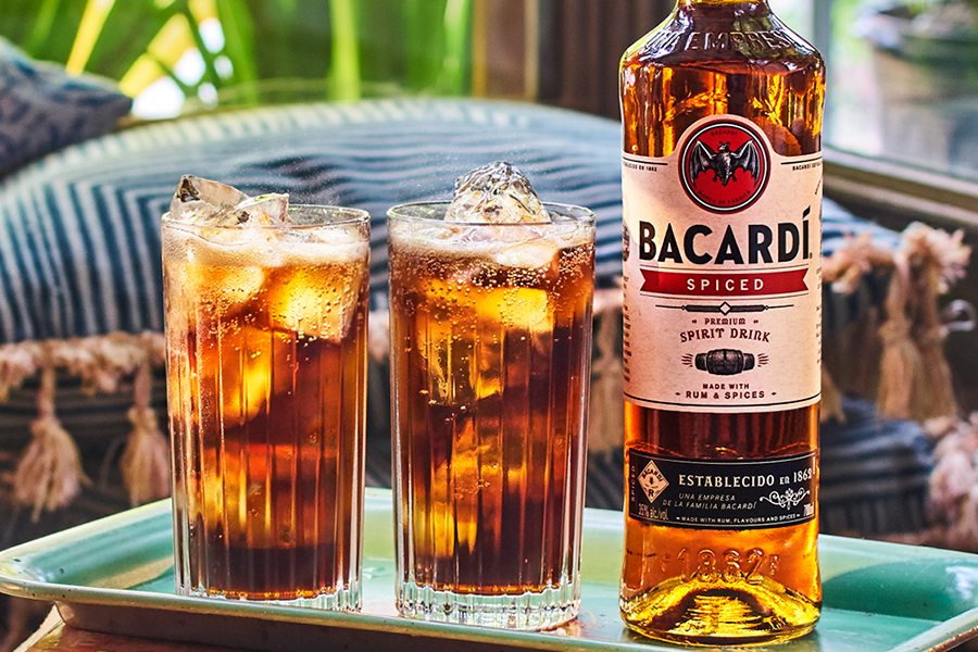 Bacardi Spiced Launches in Australia with glasses