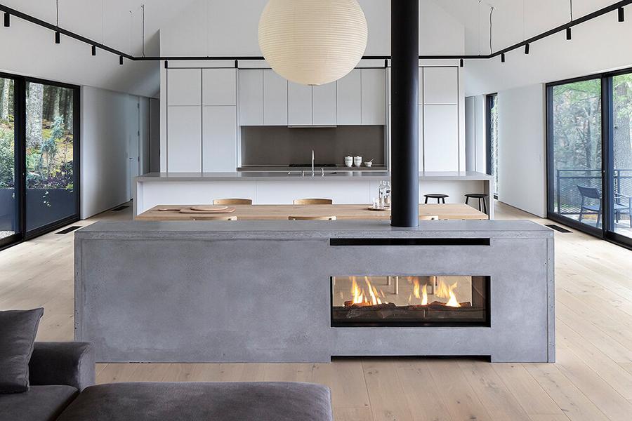 Desaichia Ledge House fireplace