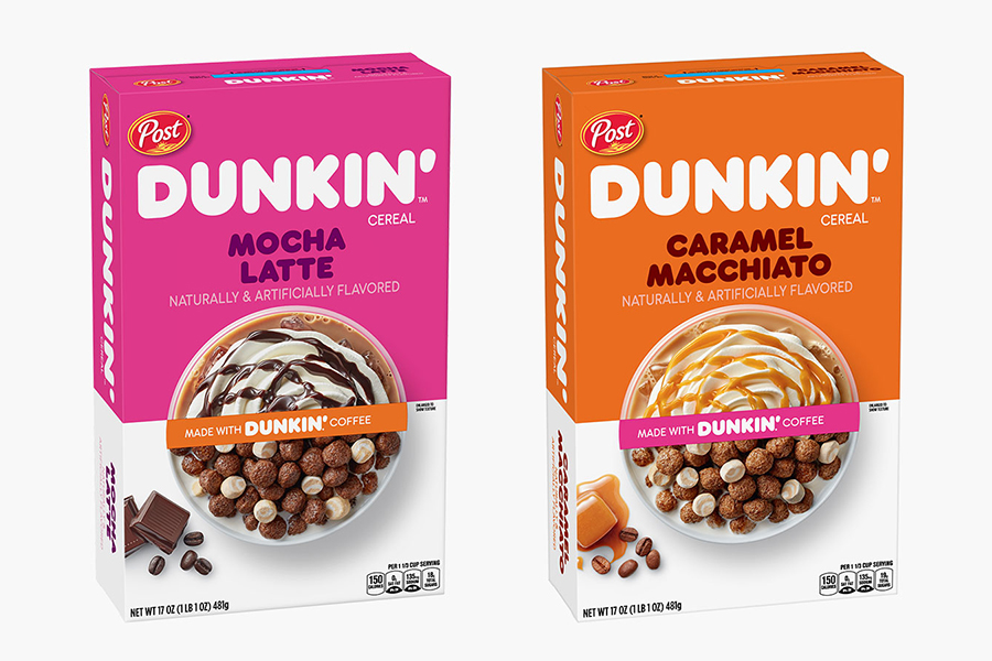 Dunkin Donuts Cereal mocha and caramel