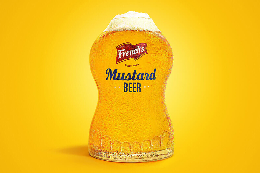 Frenchs Mustard Beer in glass
