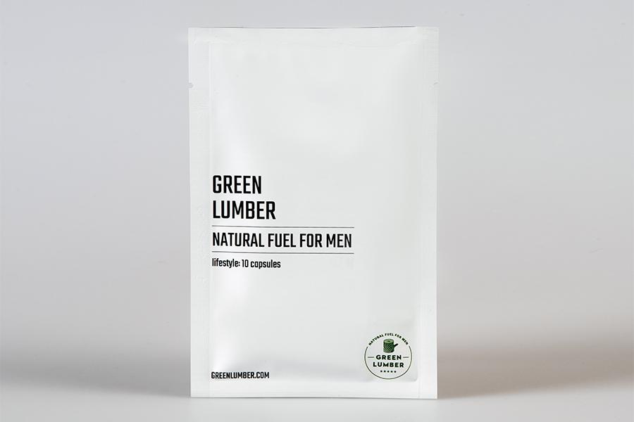 Green Lumber capsules box