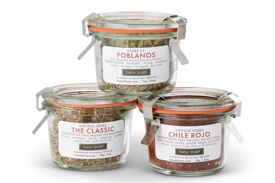Los Poblanos Dipping Herb Trio Set