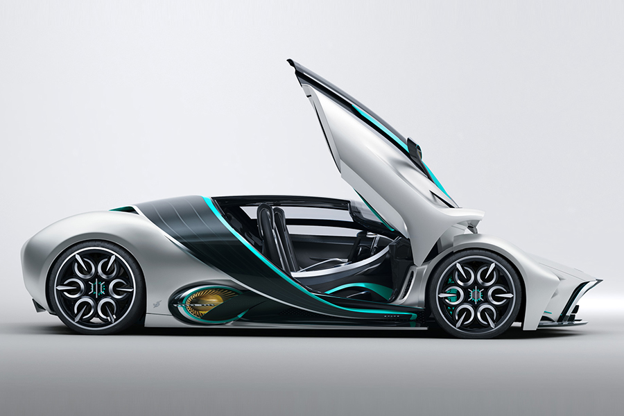 Hyperion Hypercar xp1 both side doors are open