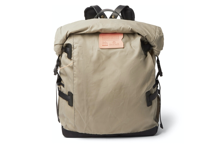 Bleu de Chauffe Basile Leather-Trimmed Waxed Cotton-Ripstop Backpack