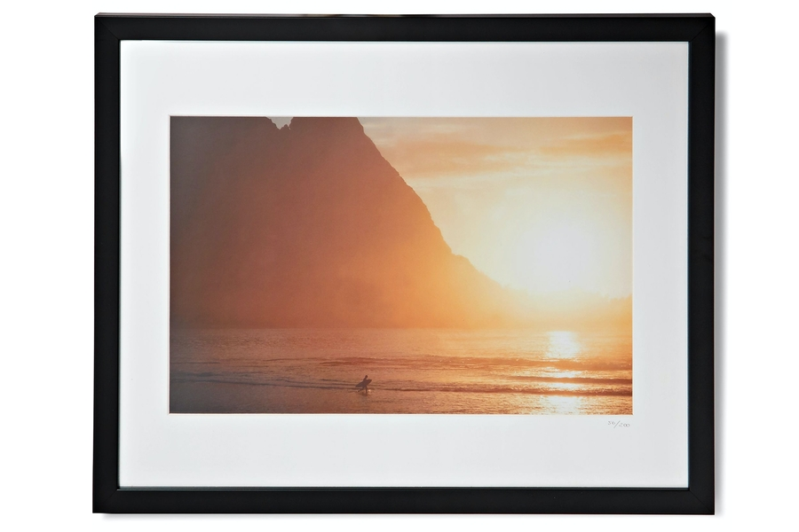 Sonic Editions Framed 1976 Walter Iooss Surf-BYTE Print