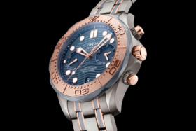 Omega Seamaster Diver 300 M Chronograph Gold Titanium Tantalum watch