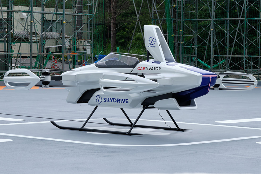 SkyDrive Flying Car side view