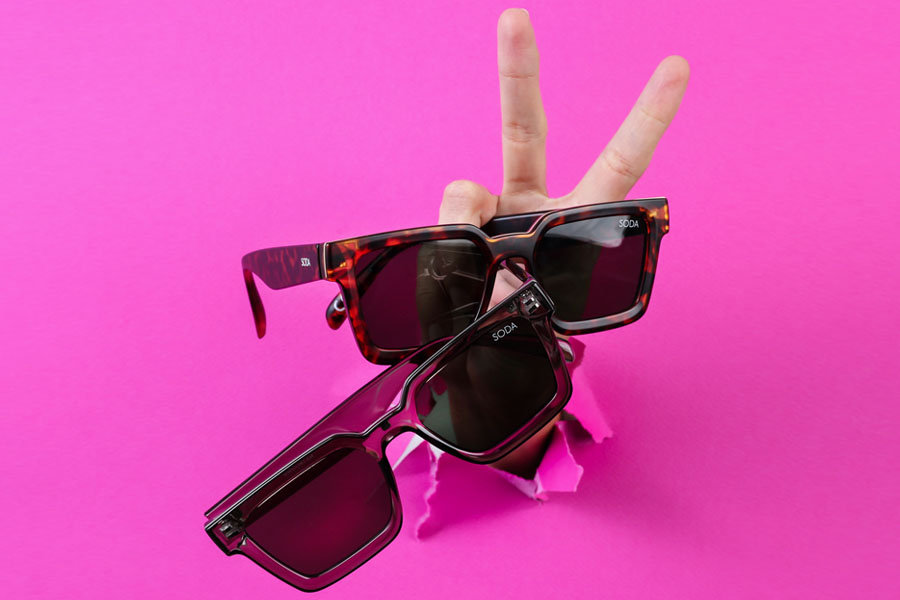 Soda Shades sunglasses with two new frames
