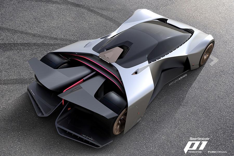 Team Fordzilla Virtual Racing Car top view