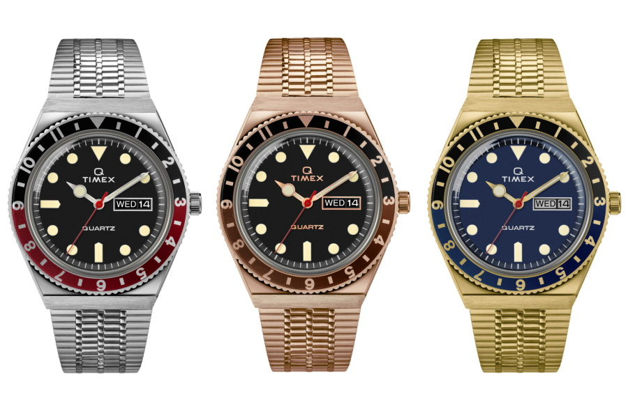 Three watches from Q Timex Reissue