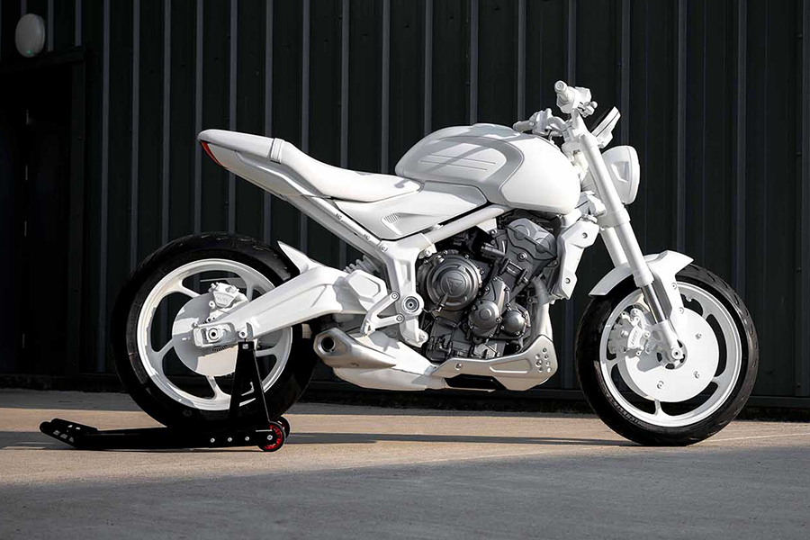 Triumph Motorcycles Trident Concept all white