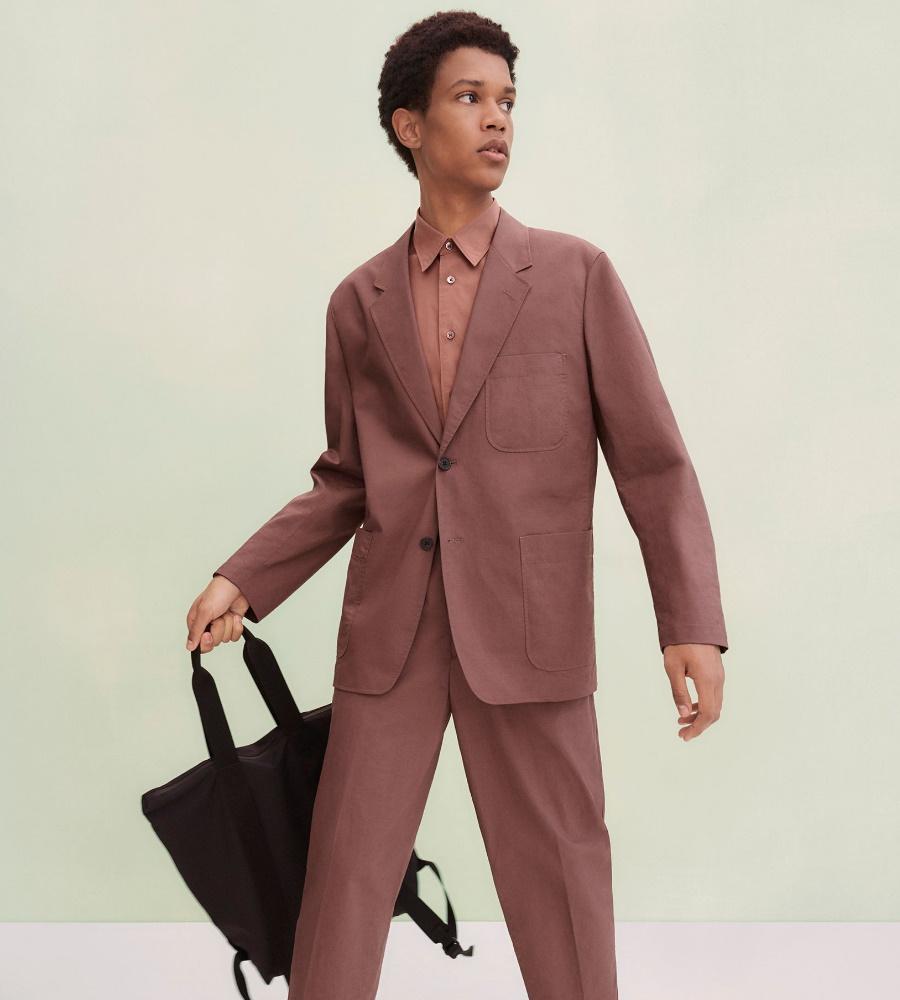 Uniqlo U u suit and bag