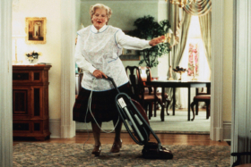 Mrs. Doubtfire vacuum cleaning and dancing