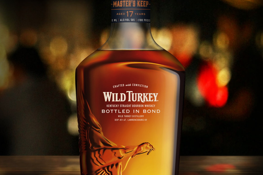 wild turkey bottled in bond whiskey