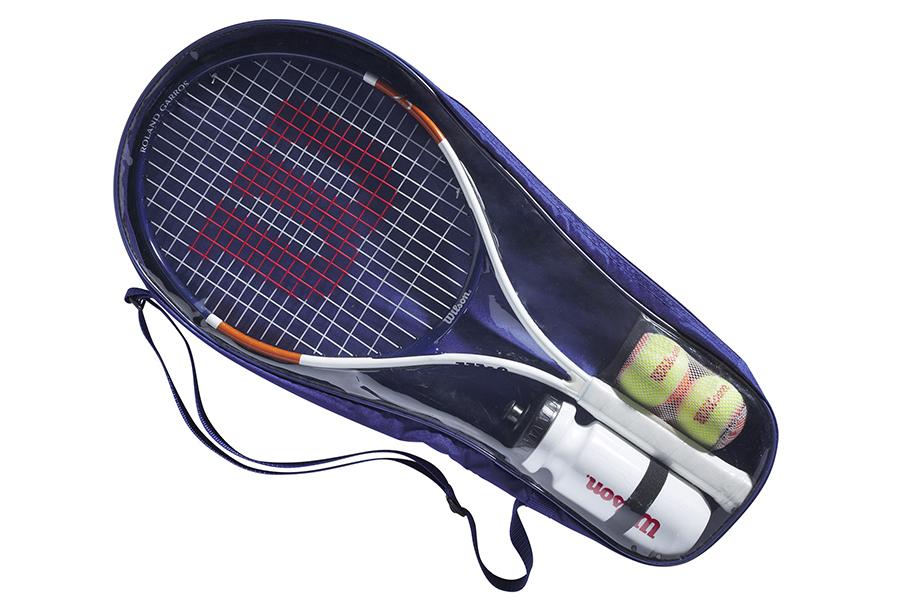Wilson x Roland Garros Tennis Rackets inside the case