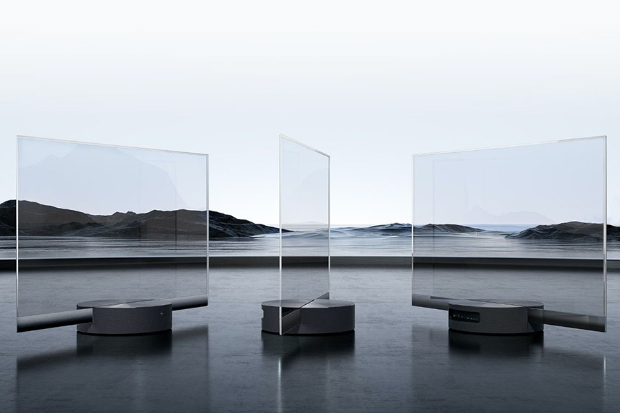 Xiaomi Seethrough TV different angle