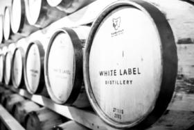 White Label Distillery barrels