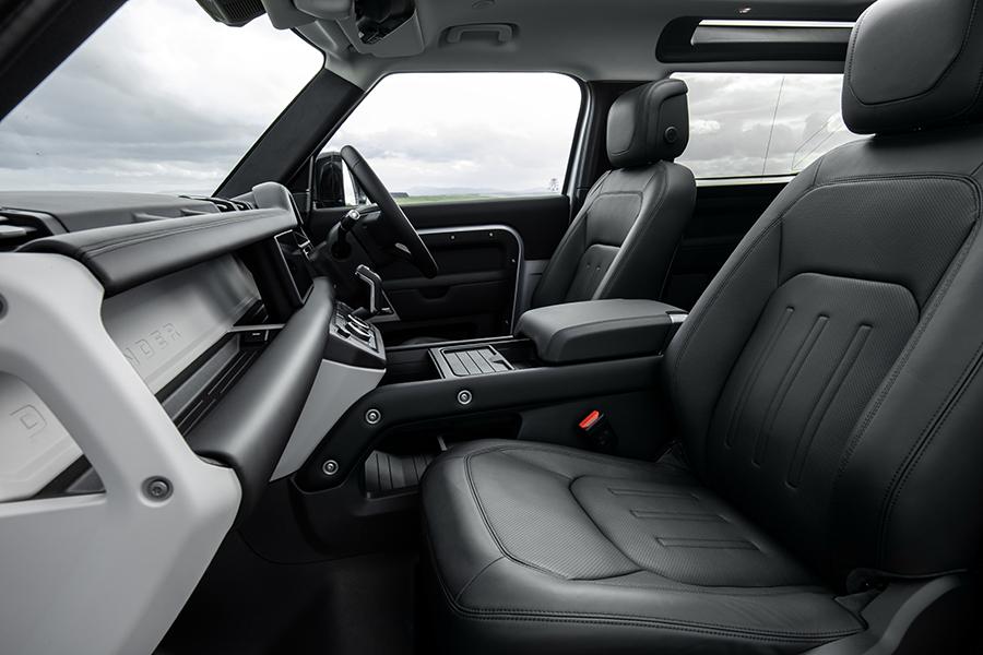 2021 Land Rover Defender dashboard P400e Hybrid