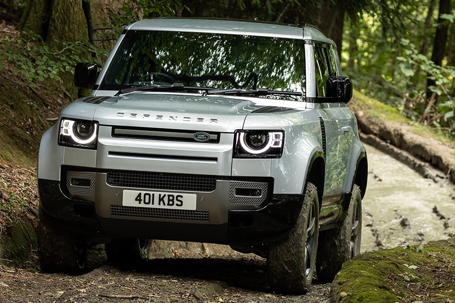 2021 Land Rover Defender P400e Hybrid front