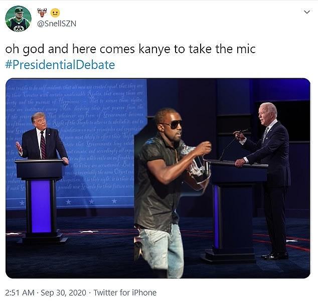 Presidential debate x Kanye interrupting meme