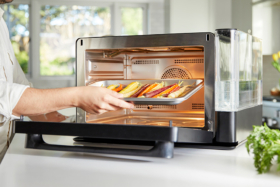 Anova Precision Oven cooking vegetable