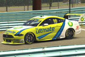 A Ford Mustang on track in BP Ultimate Eseries