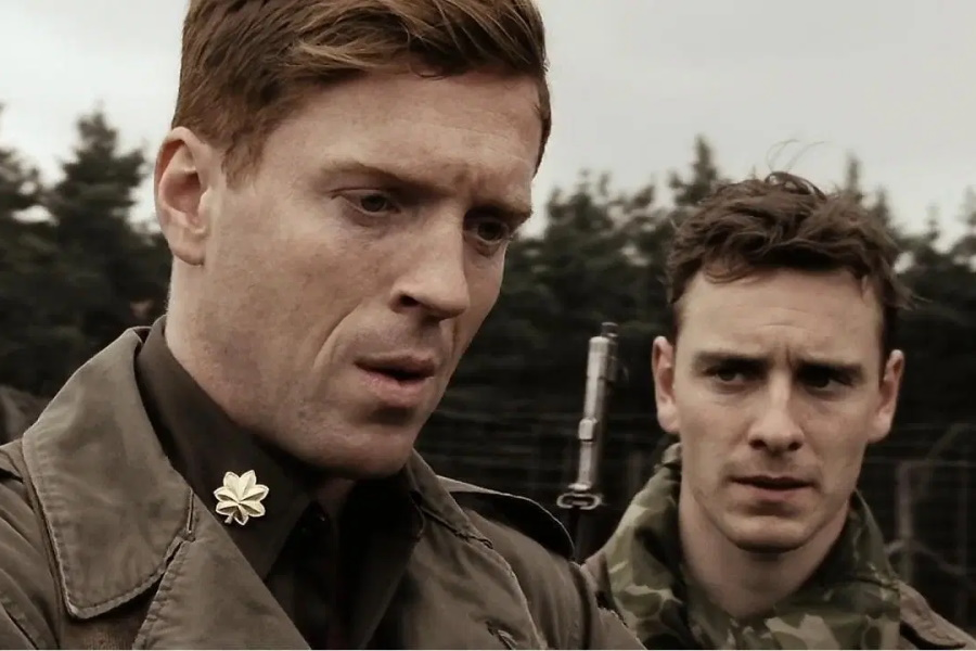 Michael fassbender, Damian lewis from Band of Brothers