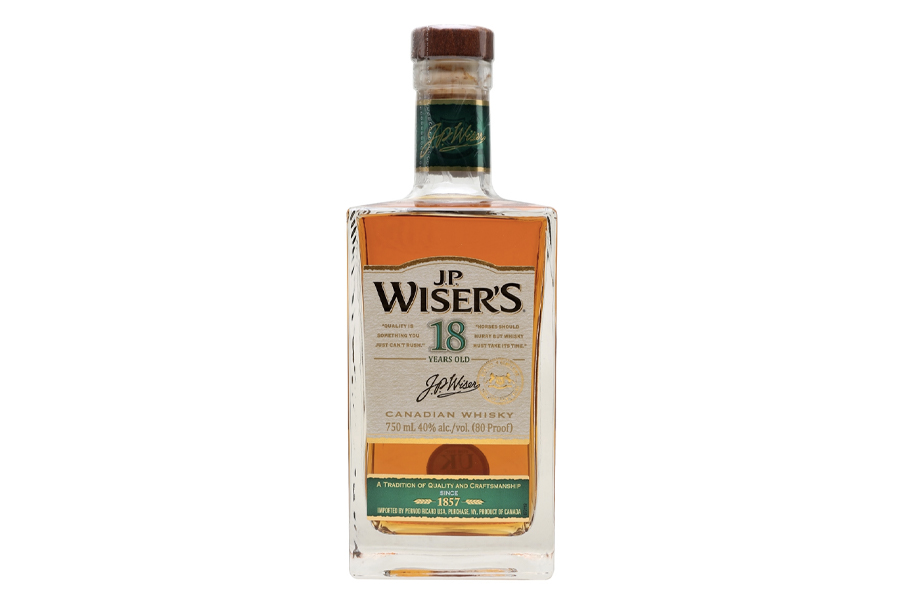 Best Canadian Whiskies - JP Wiser's 18 Year Old_