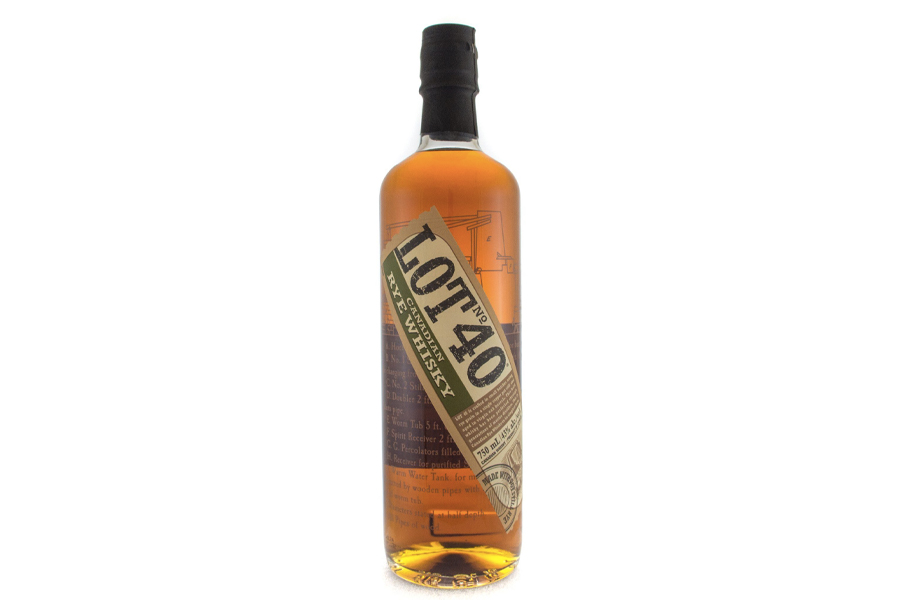 Best Canadian Whiskies - lot no. 40 canadian rye whisky
