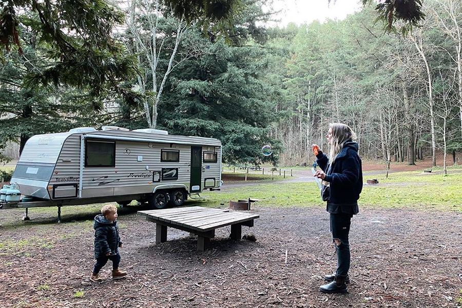 Free Camping Spots in Melbourne Mount Franklin Reserve