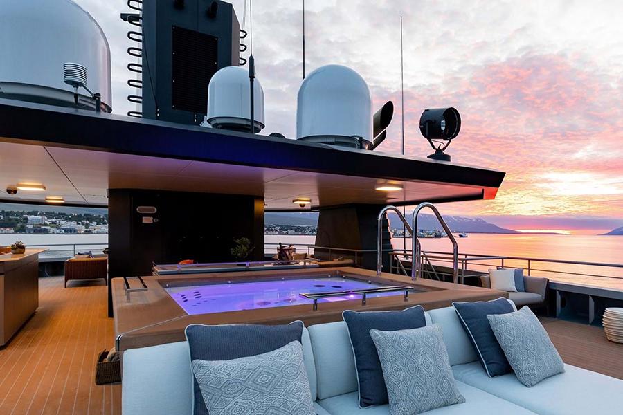 Burgess Yachts Ragner view deck