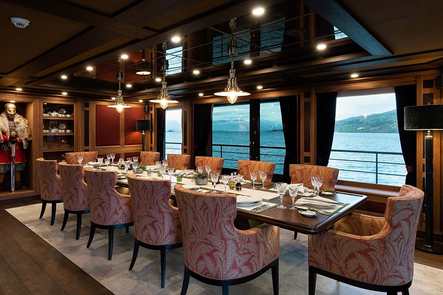 Burgess Yachts Ragner dining area