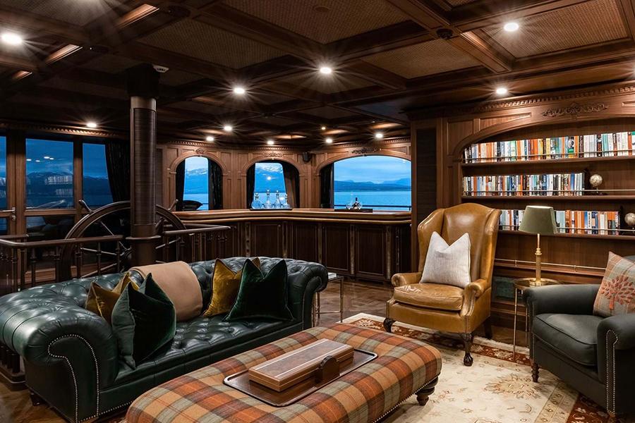 Burgess Yachts Ragner lounge area