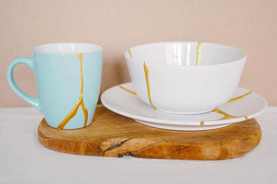 DIY Kintsugi Kit fixed ceramics
