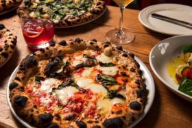 A pizza atDimitri's Pizzeria