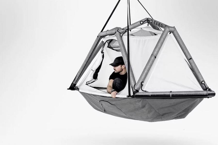 EXOD Hanging Tent open