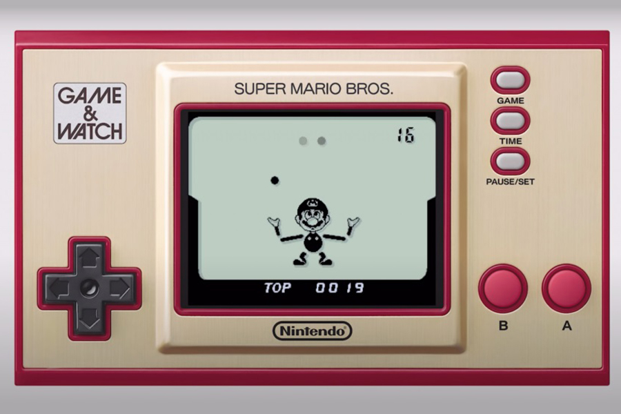 Game and Watch put the original super mario bros on a handheld cursor