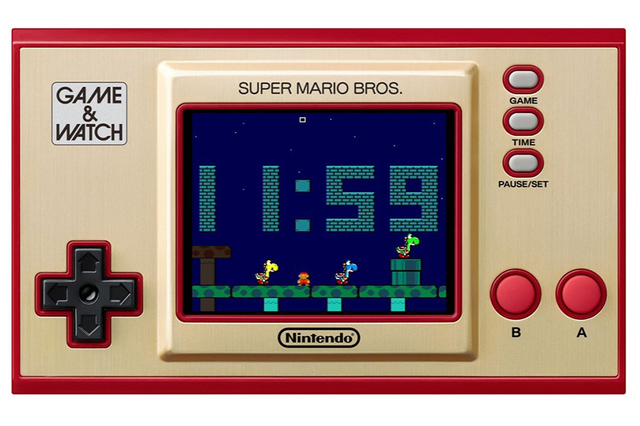 super mario bros on a handheld