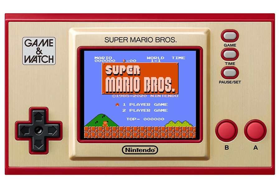 Game and Watch put the original super mario bros on a handheld front