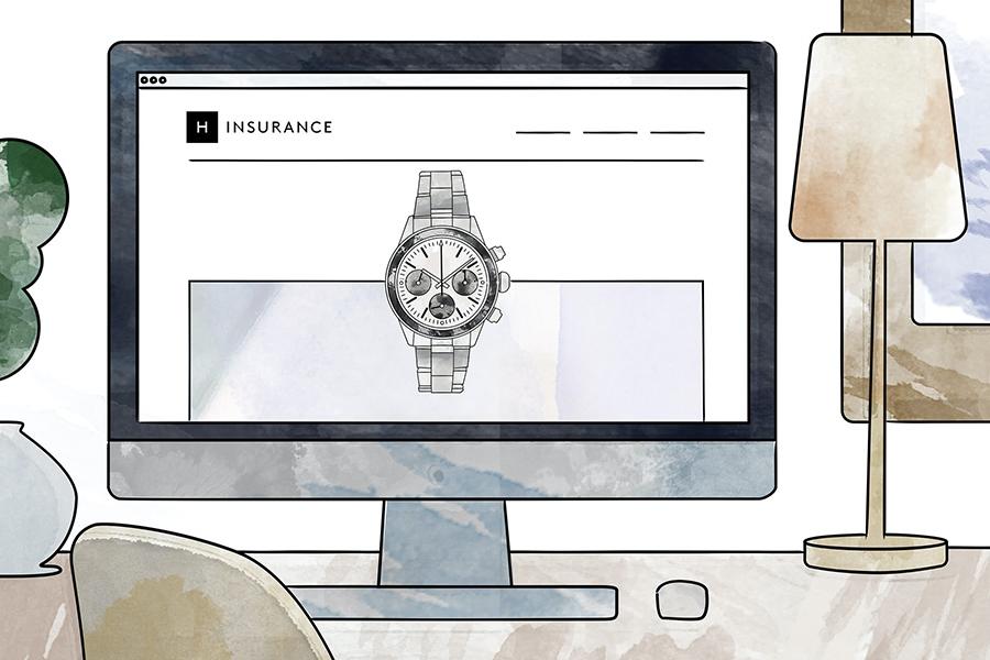 Hodinkee luxury watch insurance application process