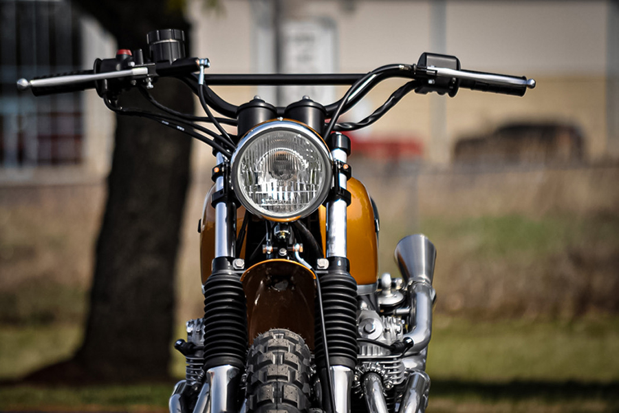 Honda CL350F by Northbilt Customs front view
