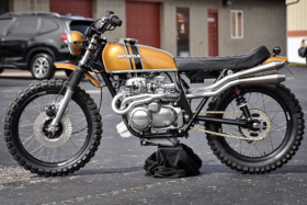 Honda CL350F by Northbilt Customs side view
