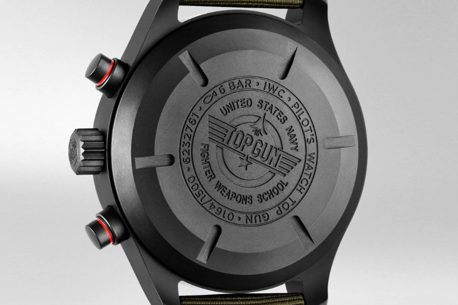 top gun watch caseback