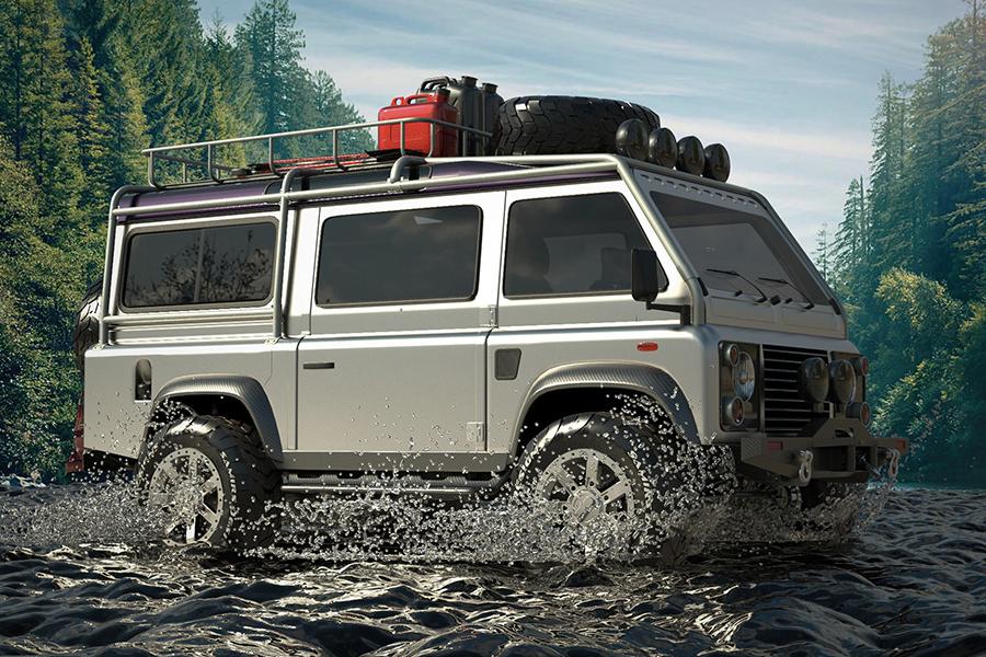 Land Rover Defender van front side