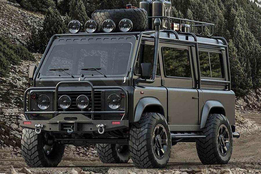 Land Rover Defender van front view