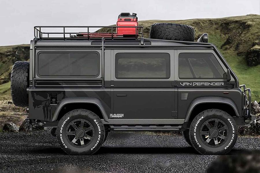 Land Rover Defender van side view