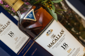 A bottle of 18 years old MacallanDouble Cask Whisky