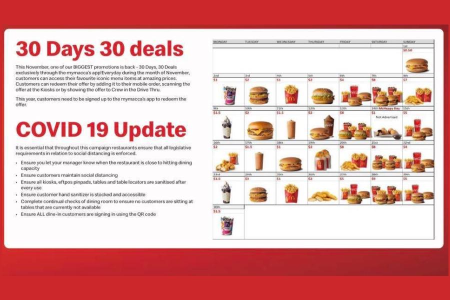 McDonald's 30 days 30 deals