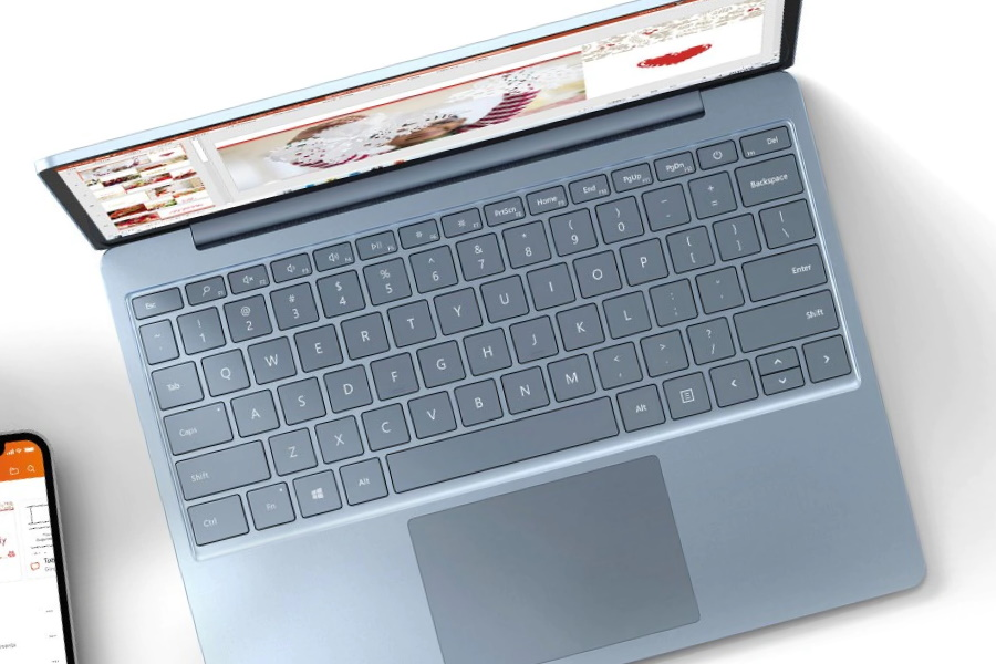 Microsoft Surface Laptop Go from top